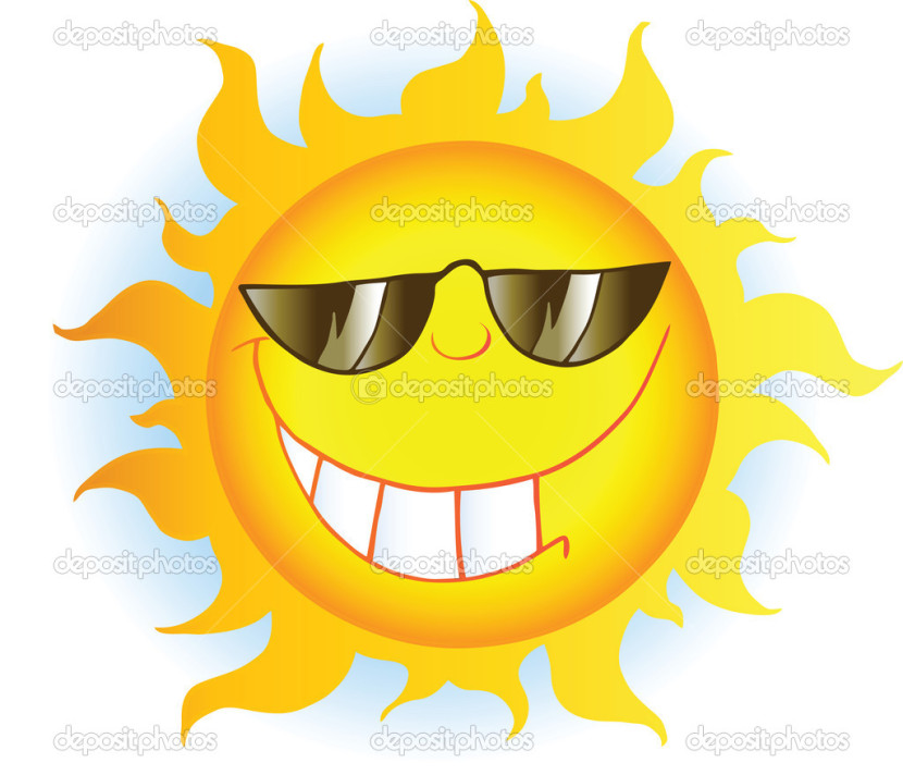 Sun With Sunglasses Stock Photo Hittoon