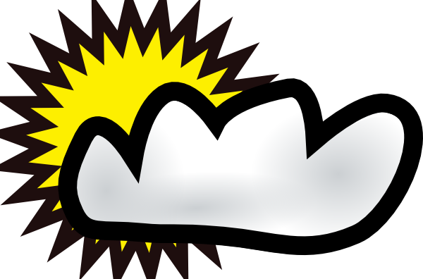Sunny Partly Cloudy Weather Clip Art At Vector Clip