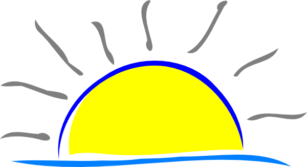 Sunset Funny Clipart