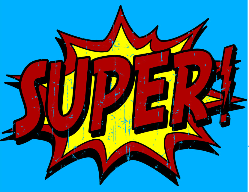 Superhero Words And Phrases Return Of The Super Hero Clipart