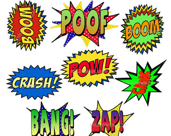 Superhero Words Super Hero Clipart Free Clip Art Images