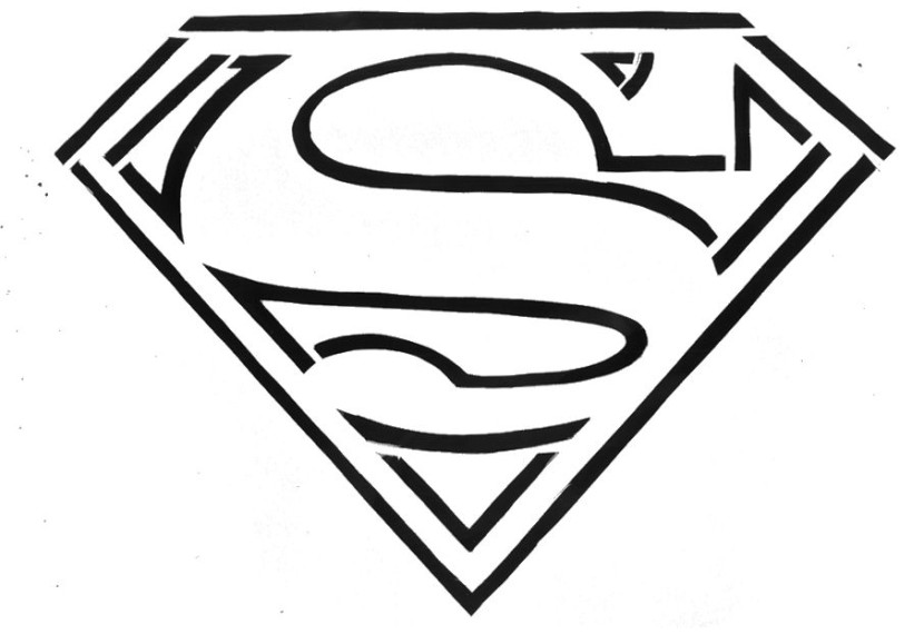 superman coloring pages free printables logo | Best Superman Logo Clipart #18583 - Clipartion.com