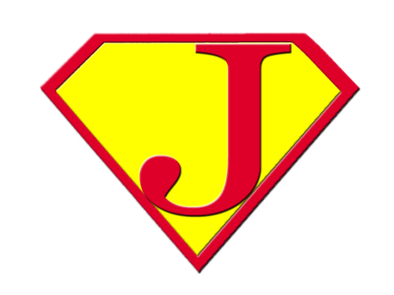 Superman Logo With Letter J Clipart Free Clipart