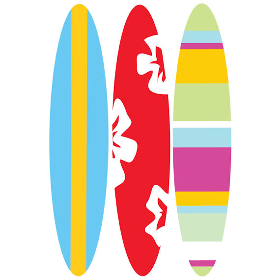 Surfboard Traceable Wall Mural