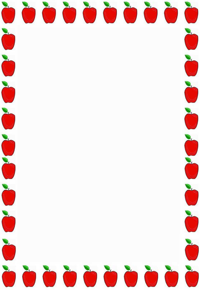 Teacher Apple Border Clipart Free Clipart Images