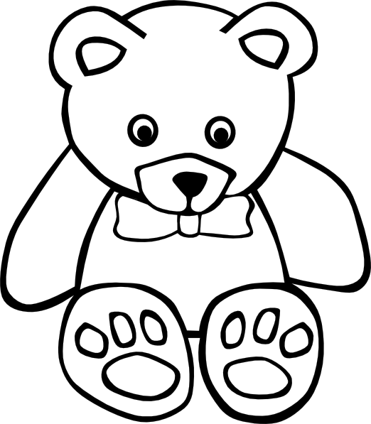 Teddy Bear Outline Clip Art At Vector Clip Art Online