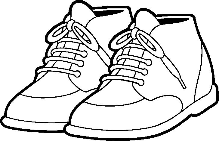 Tennis Shoes Clipart Black And White Free