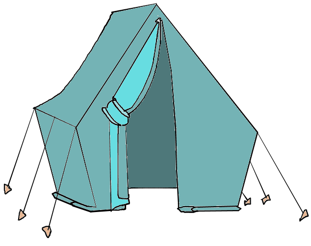 Tent Clipart Black And White Free Clipart Images