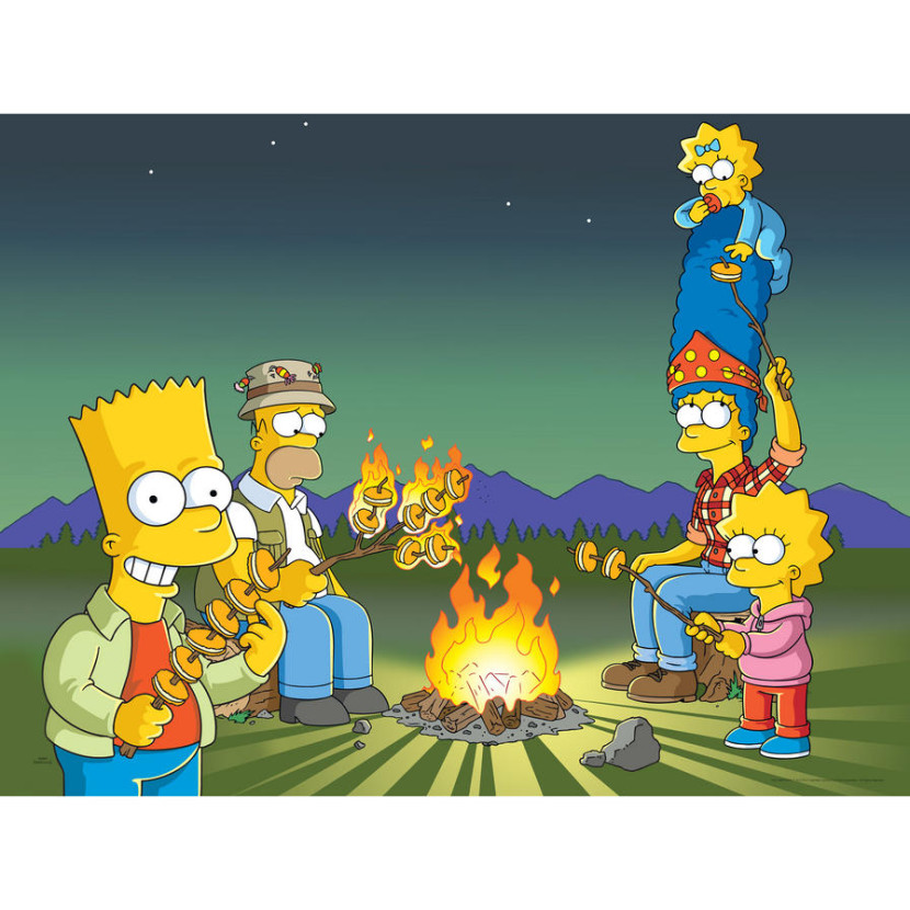 The Simpsons Campfire Wall Art Screens Com