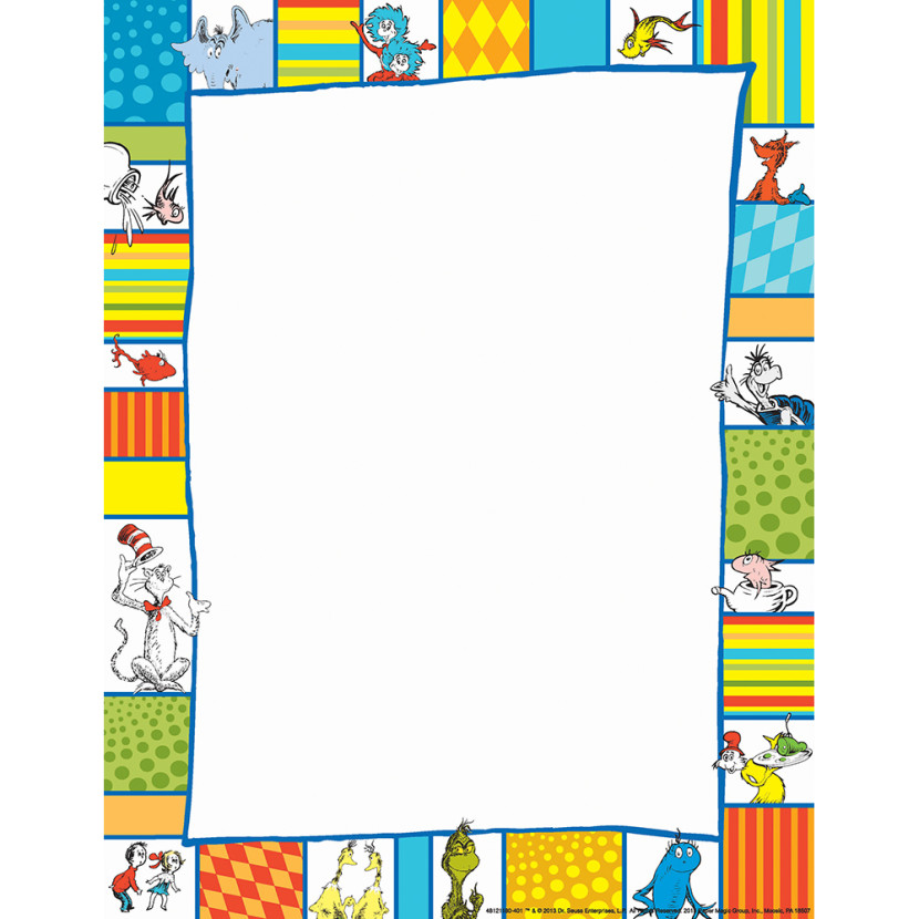 Theme Paper Border Paper Eureka School