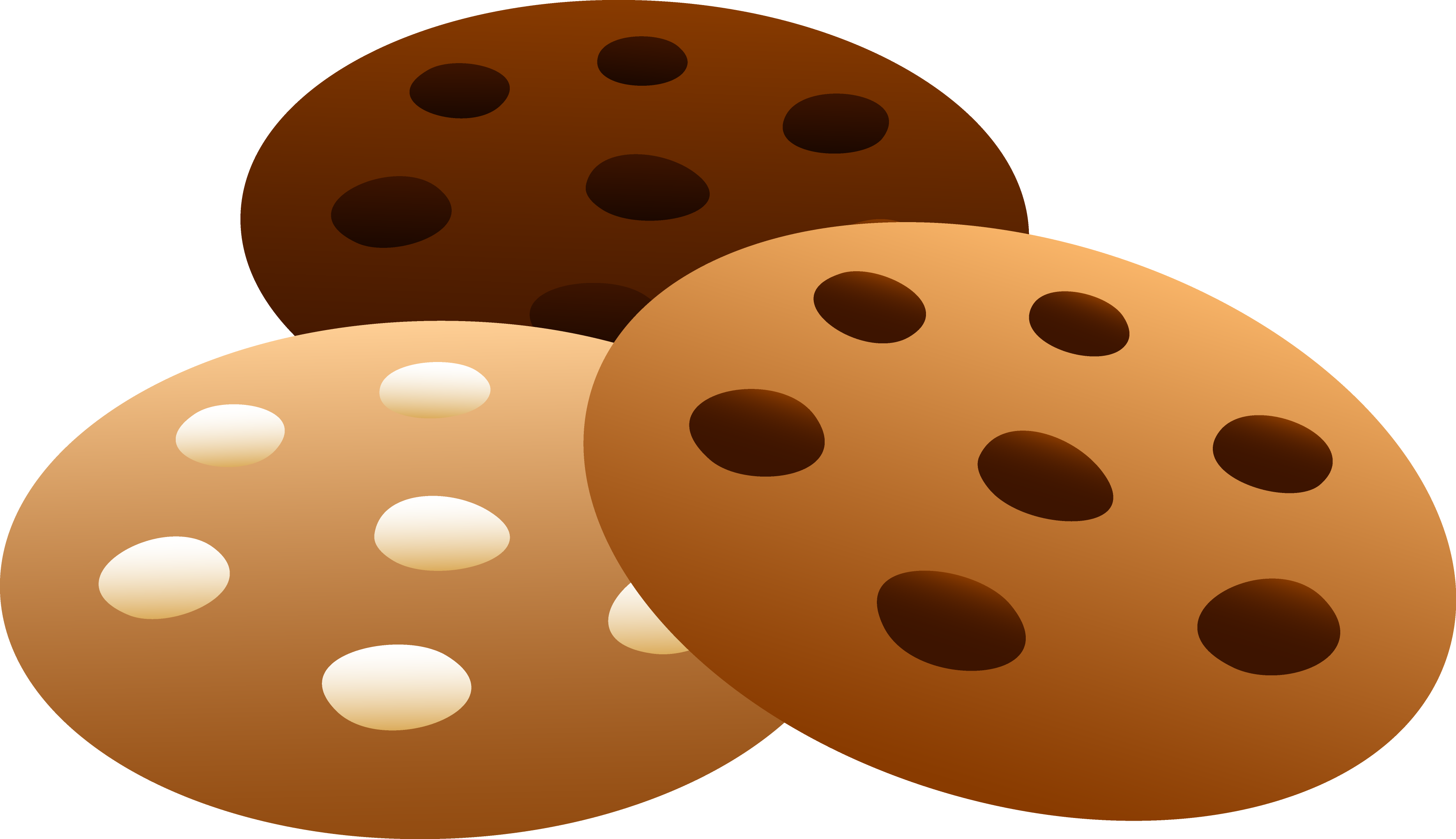 Clip Art Chocolate Chip Cookie Clipart best chocolate chip cookie clipart 15858 clipartion com three flavors of cookies free clip art chip