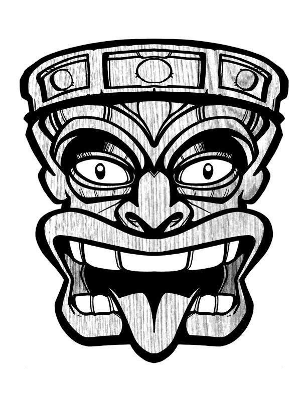 Tiki Head Clip Art Tiki Pinterest Clip Art Happy And Art