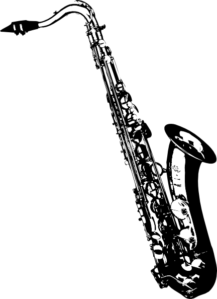 Tilted Sax Clip Art At Vector Clip Art Online Royalty