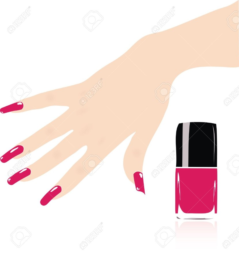 nail polish clipart vector free - photo #30