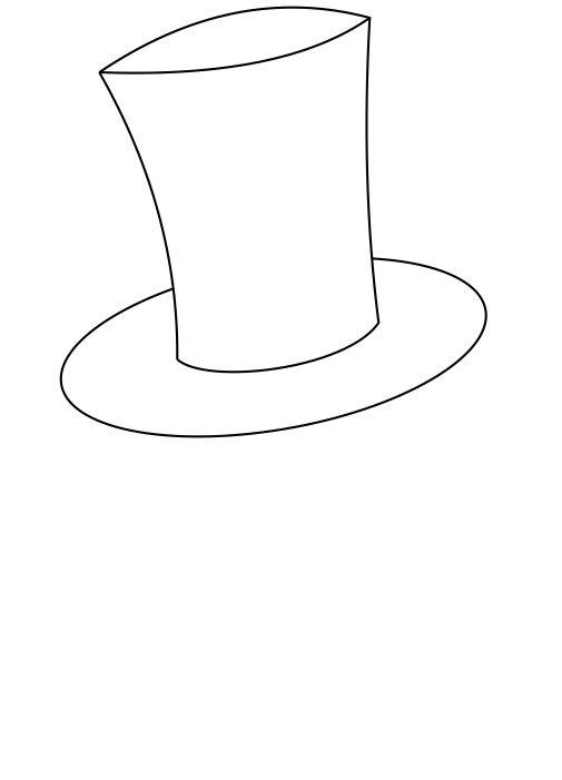 Top Hat Outline