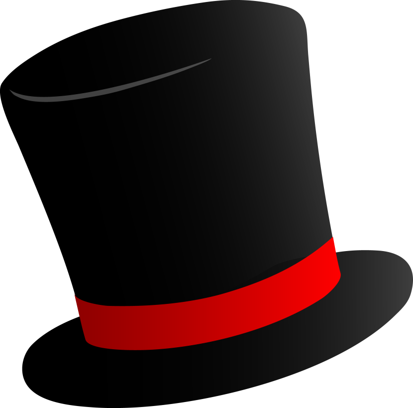 Best Top Hat Outline #14146 - Clipartion.com