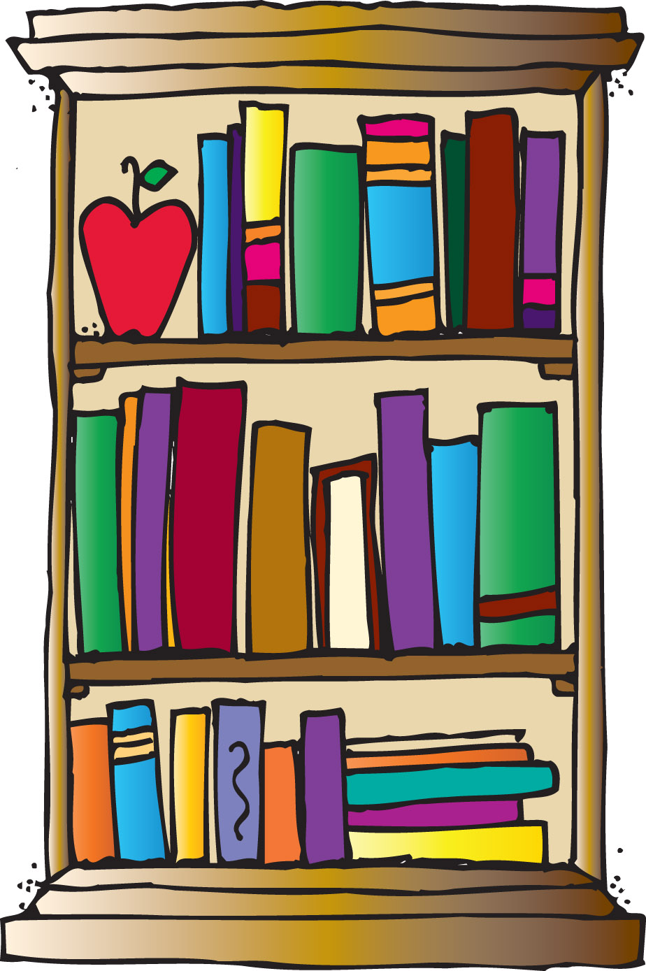 Bookshelf Clipart - Clipartion.com