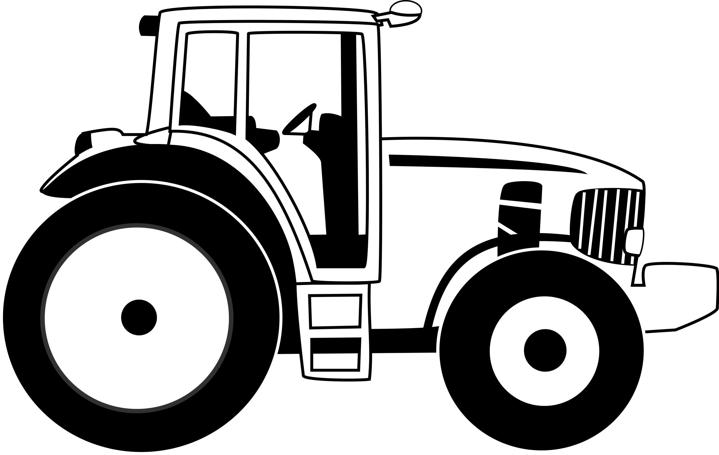Tractor Clip Art Black And White Free Clipart Images
