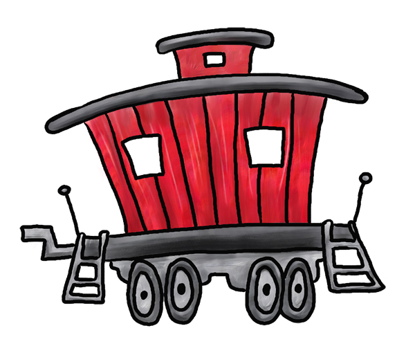 Train Caboose Clipart Free Clipart Images