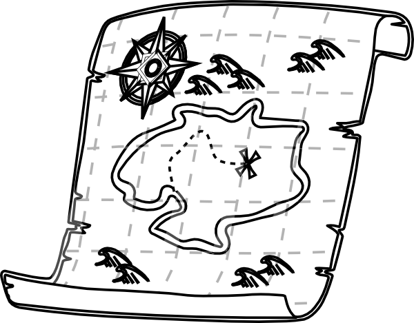 Treasure Map Outline Clip Art At Vector Clip Art