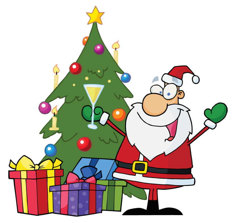 Tree With Santa Clipart Free