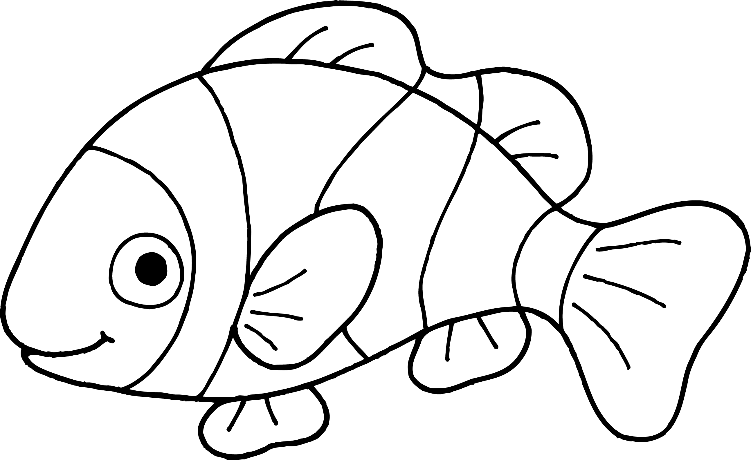 Tropical Fish Black And White Clipart Free