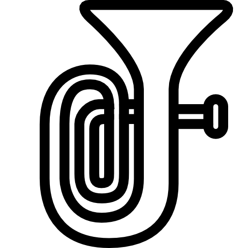 Tuba Black White Line Art Scalable Vector Graphics Html