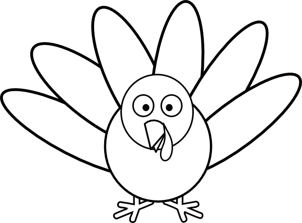 Turkey With Feathers Clip Art At Vector Clip Art