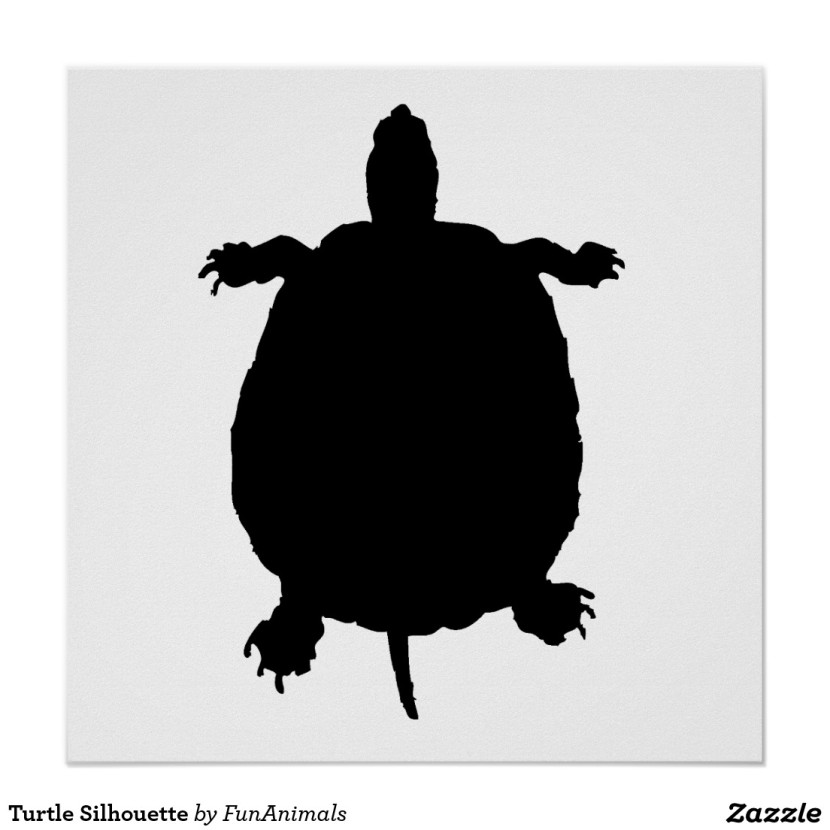 Turtle Silhouette Poster Zazzle