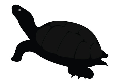 Turtle Silhouette Vector Free Download Turtle Vector Silhouette
