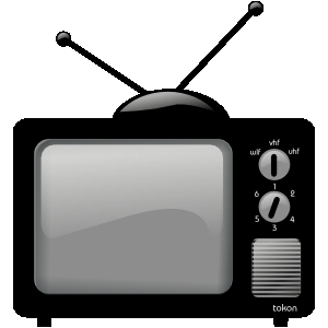 tv clipart black and white. tv clipart #7705 black and white t