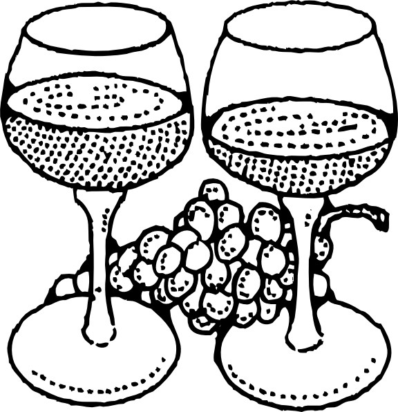 Two Glasses Of Wine Clip Art Free Vector