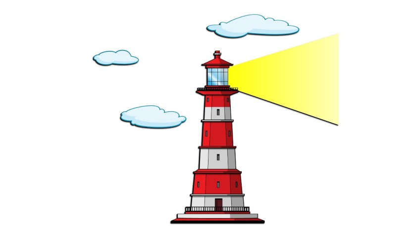 Typical Cartoon Lighthouse Download Royalty Free Vector Eps