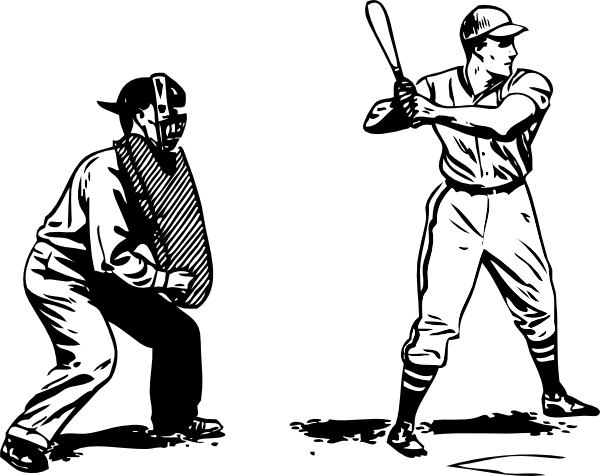 Umpire And Batter Clip Art At Vector Clip Art Online
