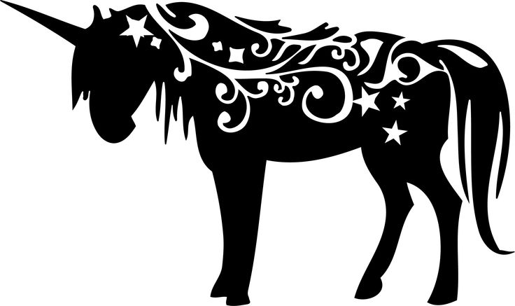 Unicorn Free Silhouette Pinterest Unicorns Decals