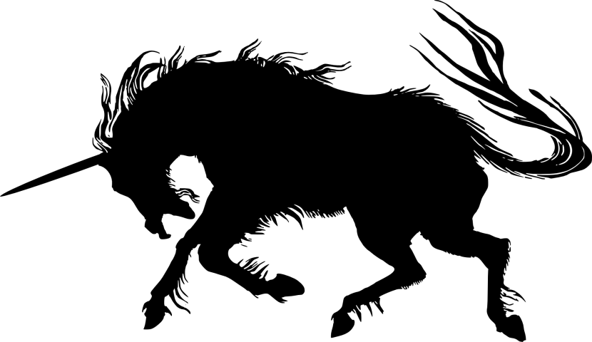 Unicorn Head Silhouette Free Clipart Images