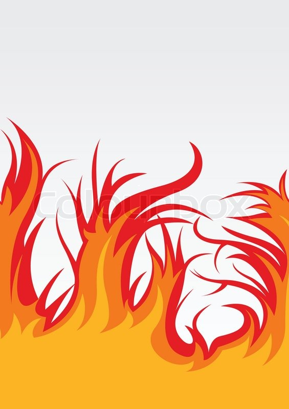 Vector Background With Fire Clip Art Vector Colourbox