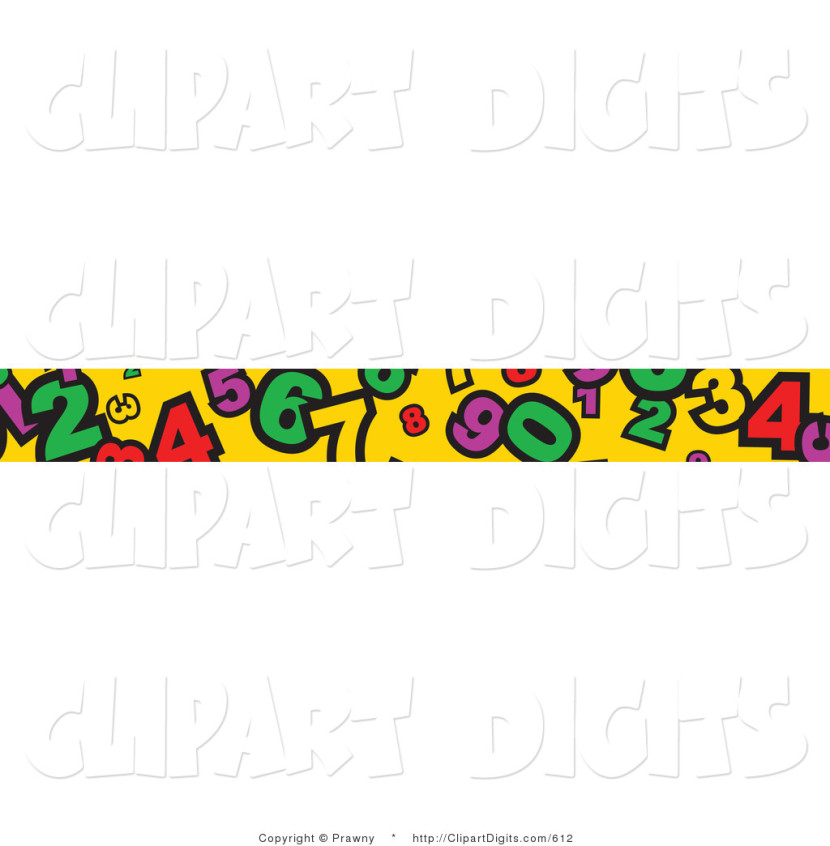 Vector Clip Art Of A Banner Border Of Numbers On Yellowprawny