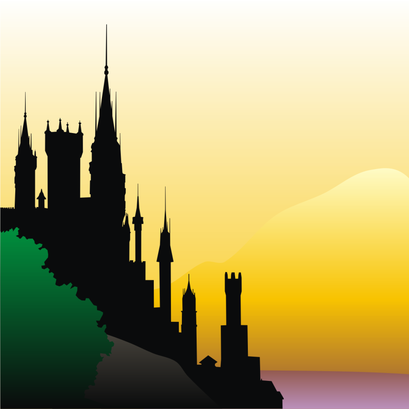 Vector For Free Use Old Castle Silhouette