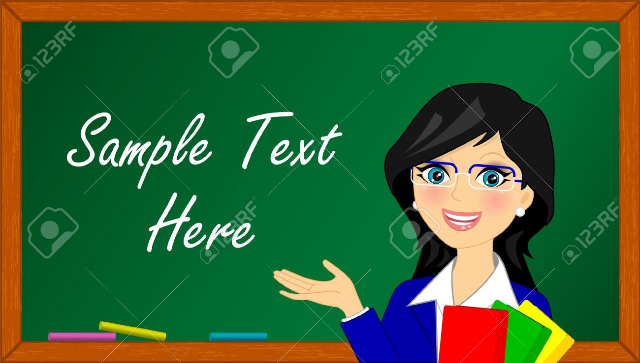 Vector Llustration Of Teacher In Class Royalty Free Cliparts