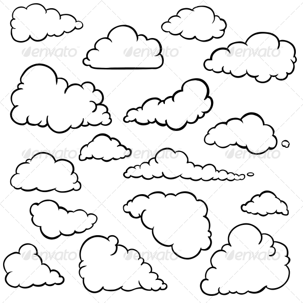 Cloud Outline - Clipartion.com