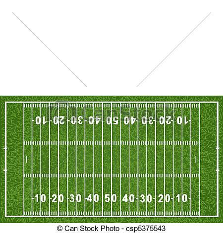 Vectors Of American Football Field Isolated On White Background