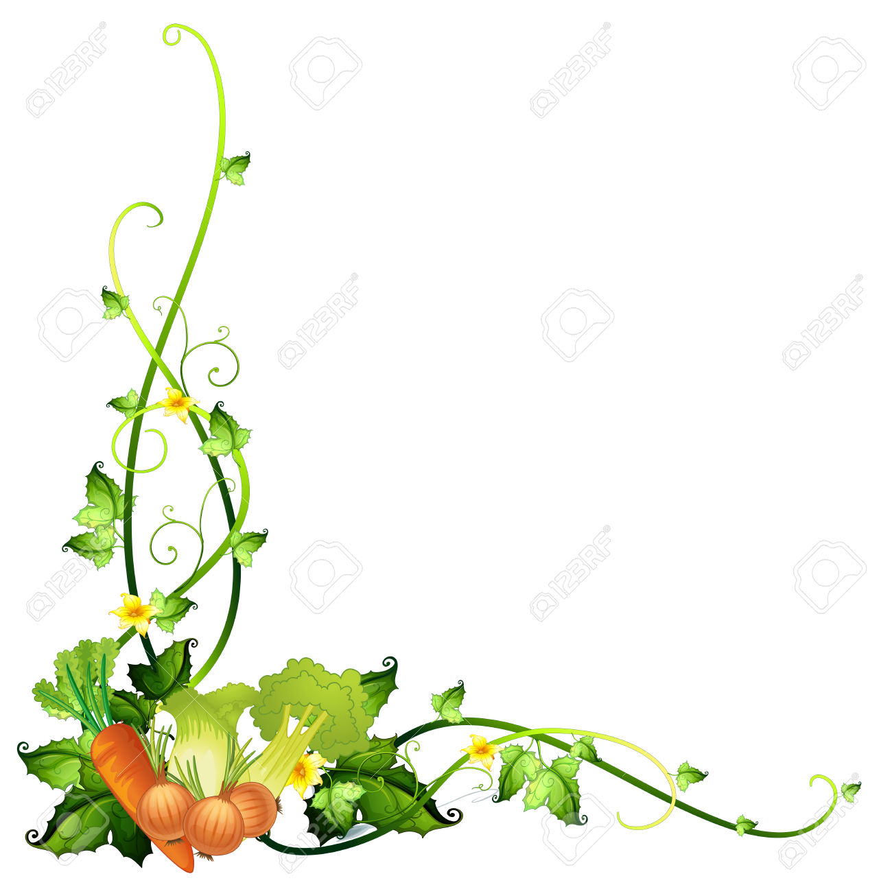Vegetable Border Cliparts Stock Vector And Royalty Free Vegetable: clipartion.com/free-clipart-10346