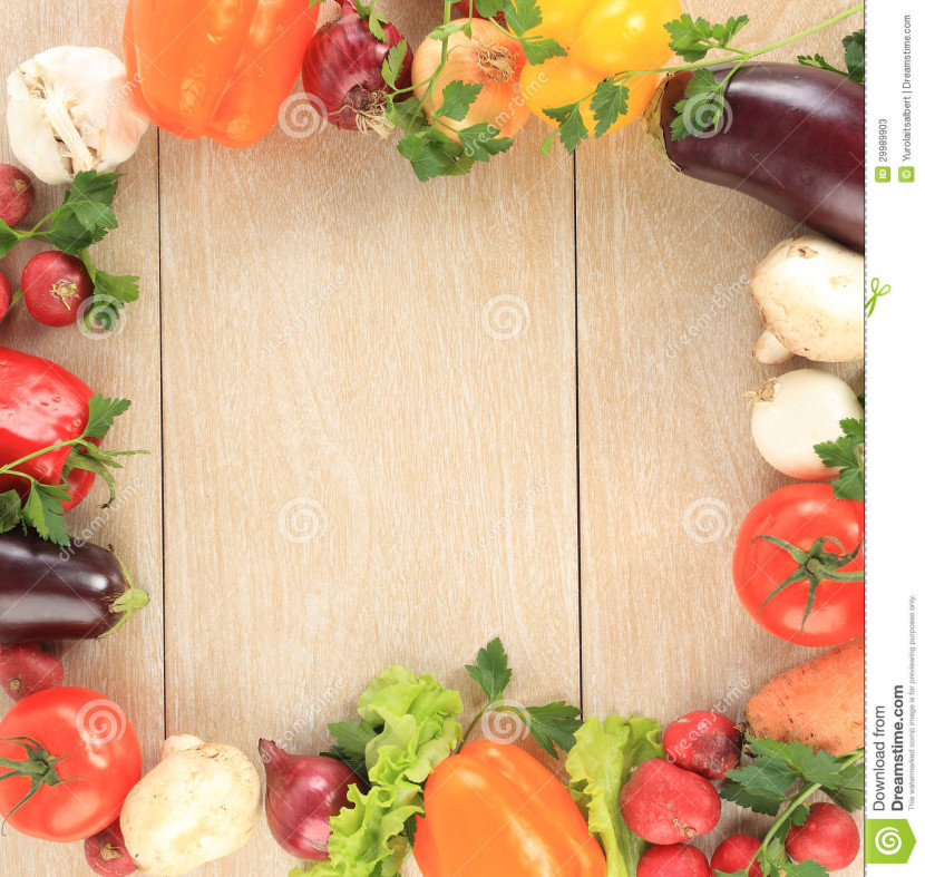 Vegetable Frame Background Stock Photos Image