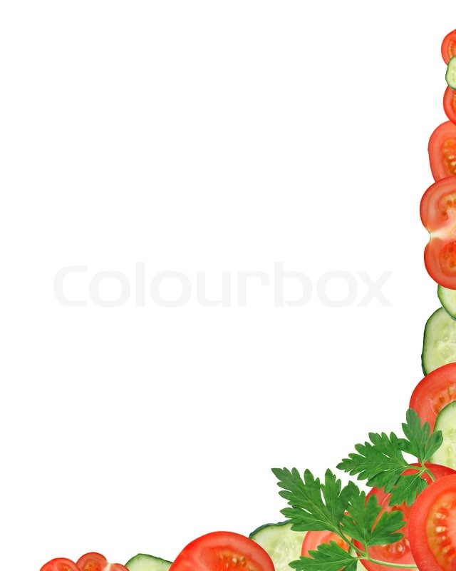 Vegetables Border Stock Photo Colourbox