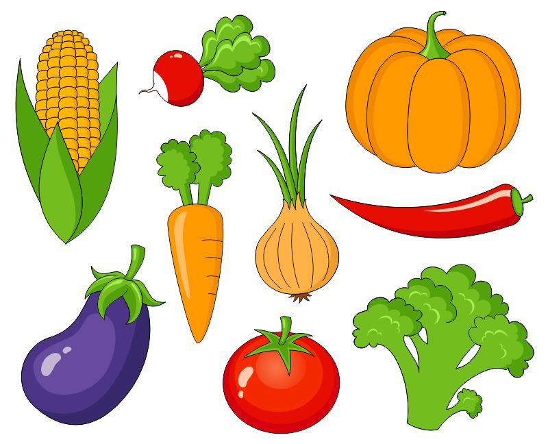 Vegetables Clip Art Cute Veggies Clipartyarkodesign On Etsy