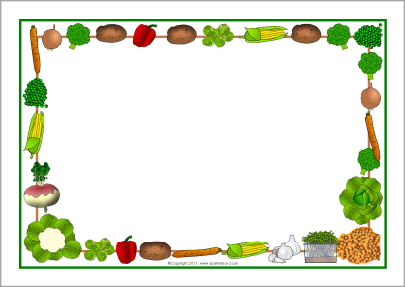 Vegetables Themed A4 Page Borders Sb5 Sparklebox