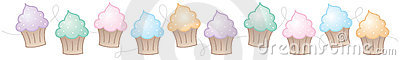 Vertical Cupcake Border Royalty Free Stock Images Image 9