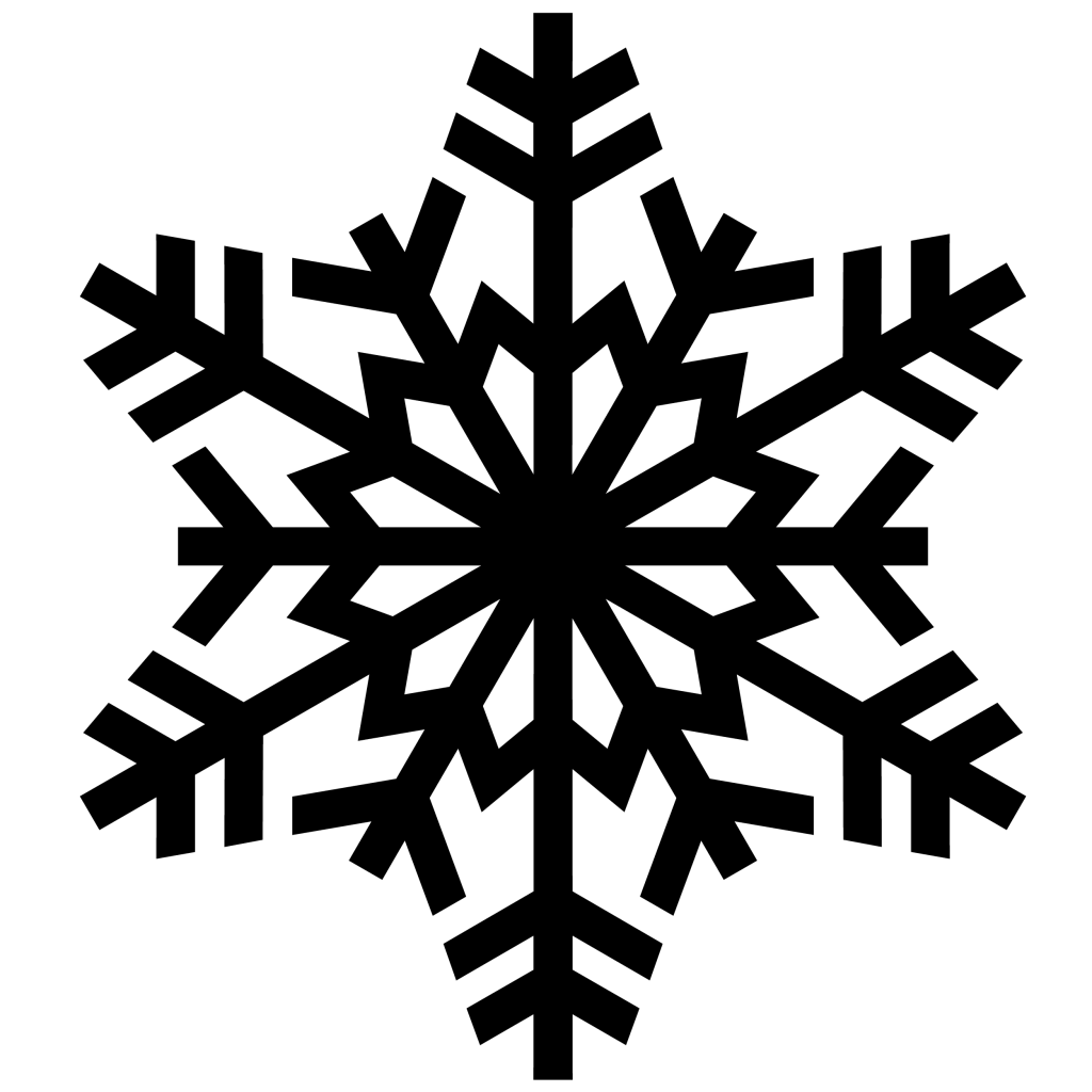 Very Black Snowflake Png