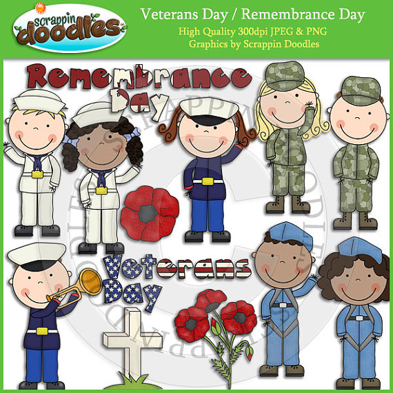 Veterans Day Remembrance Day Clip Artscrappindoodles On Etsy